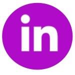 Fucshia LinkedIn Logo